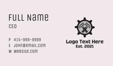 Hammer Cog Mechanic Business Card