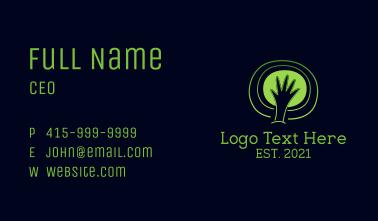 Environmentalist Hands Business Card
