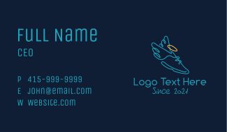 Halo Wings Sneakers Business Card