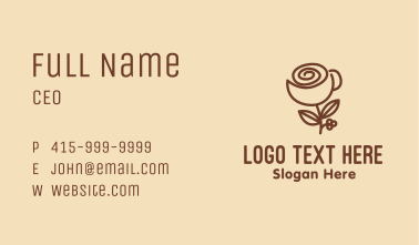 Flower Coffee Cup Business Card