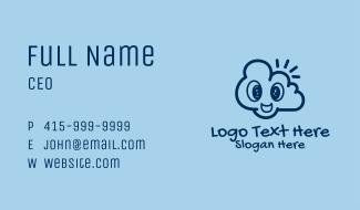 Happy Cloud Doodle  Business Card