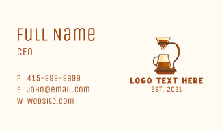Filtered Coffee Maker Business Card