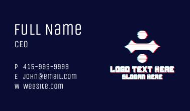 Gothic Division Glitch Business Card