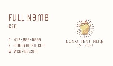 Kombucha Jar Rays Business Card