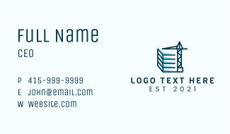 Construction Site Business Card