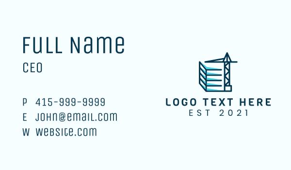 labor - Construction Site Business card horizontal design