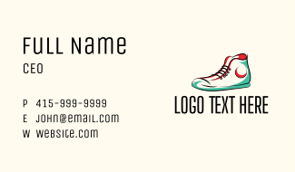 Hipster Sneakers Shoes  Business Card