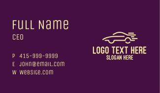 Simple Car Lines Business Card