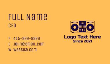 DJ Set Equipment Business Card