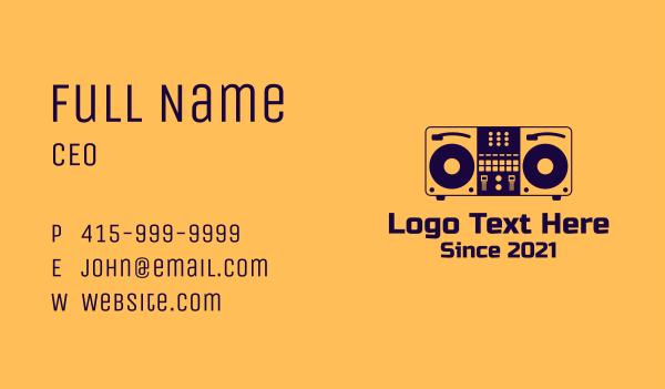 dj bar - DJ Set Equipment Business card horizontal design