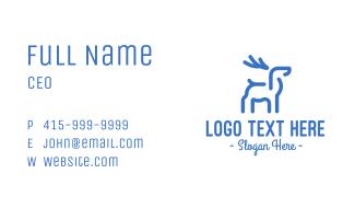 Blue Abstract Deer Business Card