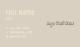 Cursive Comic Wordmark Business Card