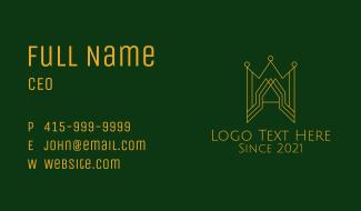 Gold Castle Crown Business Card