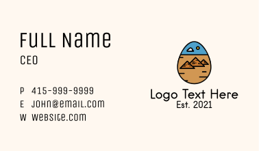 Ancient Pyramid Egg  Business Card