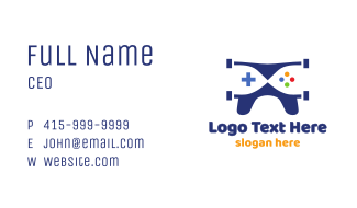 Blue Drone Gaming Business Card