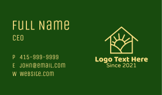 Sunrise House Business Card