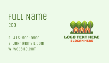 Forestry Camping Tent Business Card