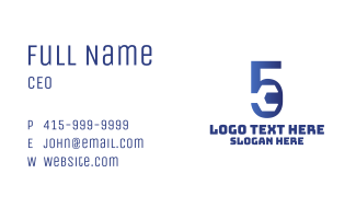 Wrench Mechanic Number 5 Business Card