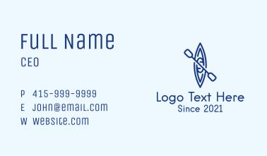 Minimalist Blue Canoe Business Card