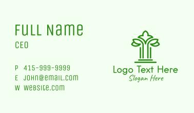 Green Natural Pillar Business Card