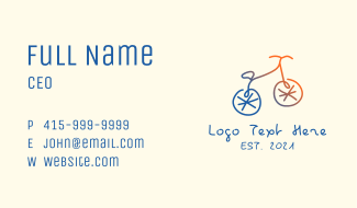 Abstract Bicycle Bike Business Card