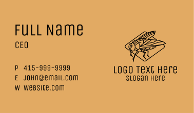 Fly Insect Line Art  Business Card