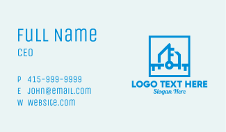 Home Security Key  Business Card