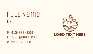 Eco Lovely Environment Business Card