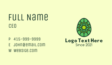 Organic  Plant Egg Business Card