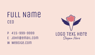 Ice Cream Wings  Business Card
