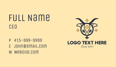 Ox Head Women Symbol Business Card