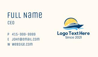 Sunrise Boat Cruise Business Card