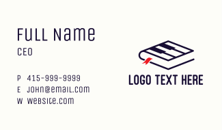 Music Piano Book Business Card
