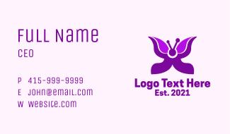 Purple Butterfly Wings Business Card