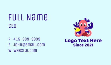 Octopus Fish Coral Reef Business Card