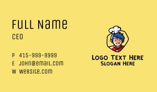 Asian Restaurant Chef Business Card