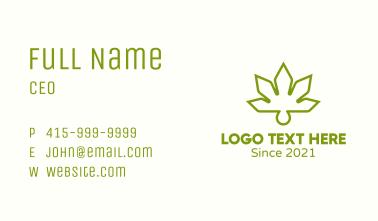 Hemp Leaf Oil Business Card