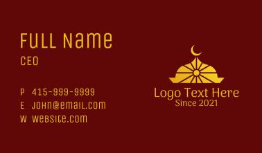 Islamic Moon Temple Business Card