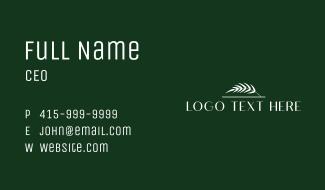 White Diplomatic Wordmark Business Card