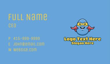 Cartoon Egg Hero  Business Card