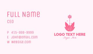 Pink Wellness Plant Business Card