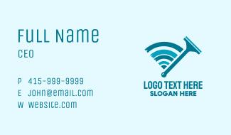 Squeegee Wiper Signal  Business Card