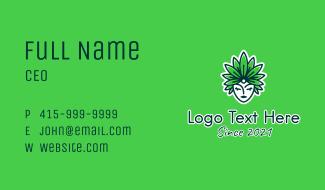 Organic Leaf Headdress  Business Card