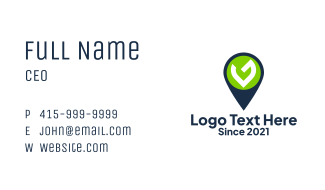 Location Pin Letter G Business Card