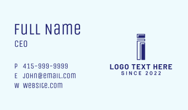 Letter I Enterprise Business Card