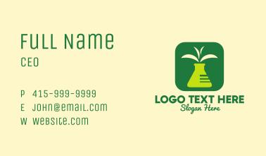 Test Tube Leaf Application Business Card