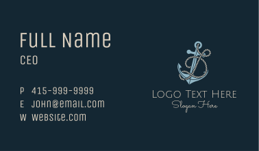 Anchor Rope Letter D Business Card