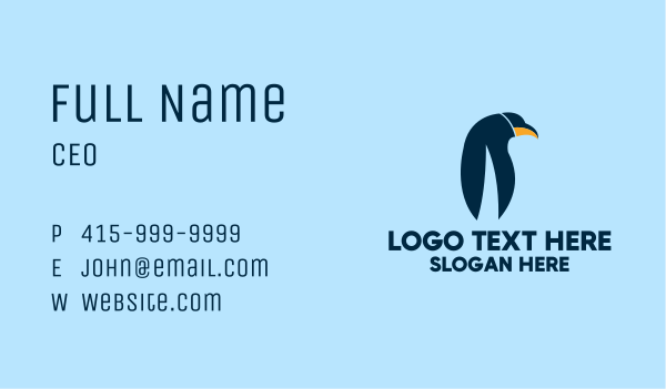 arctic - Emperor Penguin Business card horizontal design