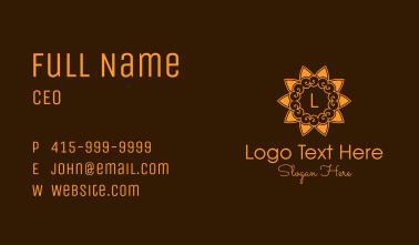 Orange Cloud Flower Business Card