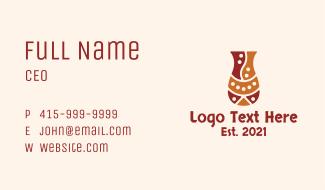 Artisanal Vase Business Card